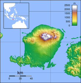 Map showing the location of Mount Rinjani National Park