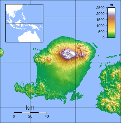 Location map Indonesia Lombok