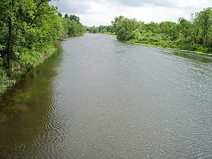 Long Prairie River - The Long Prairie River in Moran Township in Todd County in 2007