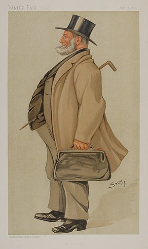 """John Rigby (politician) - """"Mr Solicitor"""" As caricatured in Vanity Fair, 31 August 1893"""