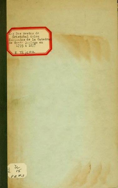 File:Los dos restos de Cristóbal Colón - etc.djvu