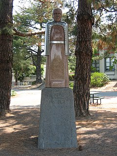 Louis Pasteur statue, San Rafael High School (crop).jpg