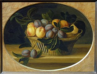 Still Life: Peaches and Plums