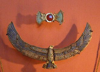 Khaemweset - Pectoral and buckle found in the Saqqara burial of prince Kaemwese