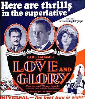 <i>Love and Glory</i> (film) 1924 silent film