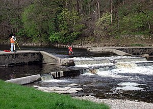 Addingham - The weir at Low Mill