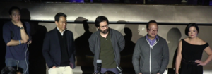 Greg Pak - Richard Lui, Jeff Yang, Greg Pak, Erin Quinn at a panel discussion for the new show Fresh off the Boat
