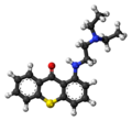 Lucanthone molecule ball.png