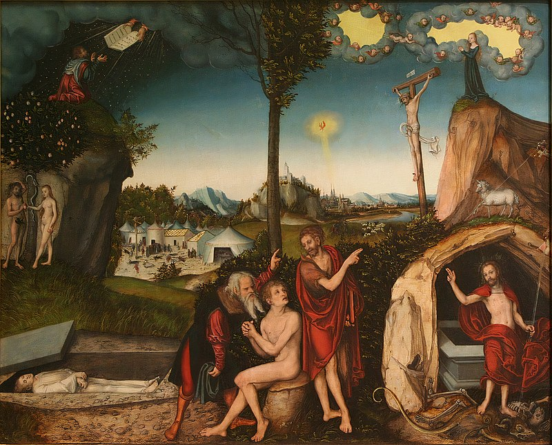 Lucas Cranach (I) - The Law and the Gospel.jpg