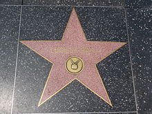 Ball's Hollywood Walk of Fame star for her television work