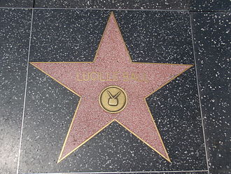 Lucille Ball - Ball's Hollywood Walk of Fame star for her television work