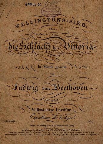 File:Ludwig van Beethoven - Wellingtons Sieg - Titelseite (1816).jpg (Quelle: Wikimedia)