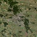 Lviv, Ukraine, satellite image, near natural colors, Landsat-7, 2005-09-21.jpg