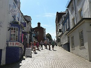 Lymington - Looking up Quay Hill.