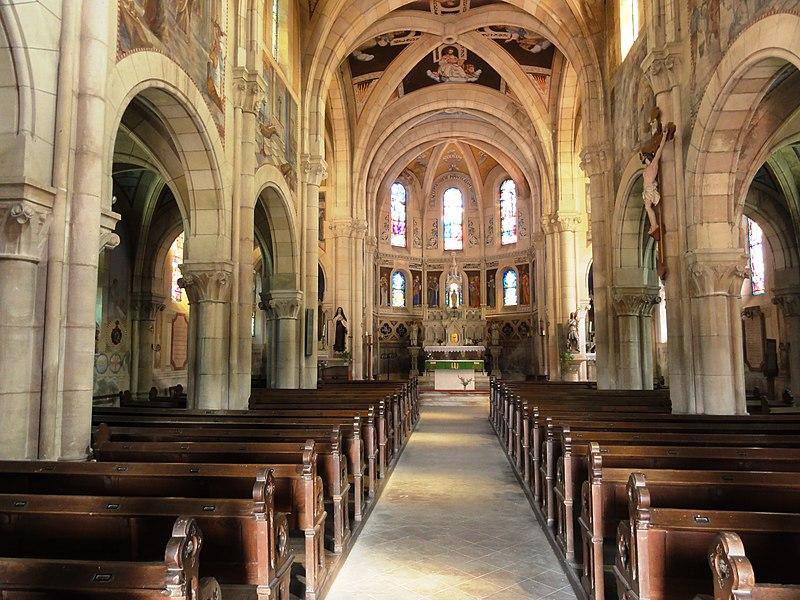 Mécrin (Meuse) église Saint-Evre intérieur