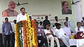 M. Venkaiah Naidu addressing at the inauguration of the Demonstration Housing and Community Building Project, at Saraswathi Nagar, in SPS Nellore district, Andhra Pradesh.jpg