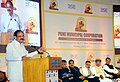 M. Venkaiah Naidu addressing the gathering at the Listing Ceremony of the Municipal Bonds of Pune Municipal Corporation, at the BSE, in Mumbai.jpg