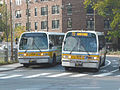 MBTA route 72 bus at Cambridge Common, October 2015.jpg