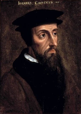 Jean de Serres - Portrait of John Calvin, Protestant theologian.