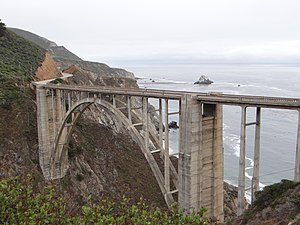 Parabolic arch - The Bixby Creek Bridge's parabolic arch