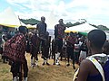"""Maasai's Youths called """"Morans"""" sing traditional song during during the Cultural and Tourism exhibition 2018, in Tanzania.jpg"""