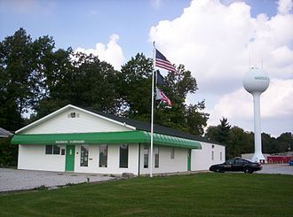 Civil township - Madison Township Hall in Madison Township, Richland County, Ohio