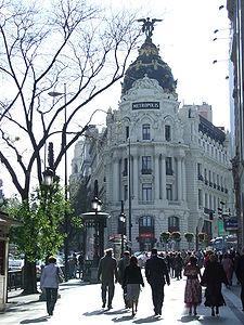 El Edificio Metrópolis, en el entorno de la Calle de Alcalá.