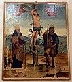Maestro di Tavarnelle (o Maestro dei Cassoni Campana), ss. Antonio Abate, Sebastiano e Rocco con due angeli, 1510-15 ca. 01.JPG