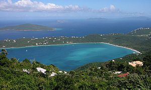 Looking down at Magens Bay from Mountain Top, ...