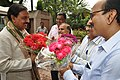 Mahesh Sharma Being Greeted By Anil Shrikrishna Manekar With NCSM Senior Officers - NCSM - Kolkata 2017-07-11 3400.JPG