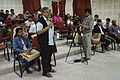 Mahidas Bhattacharya - Panel Discussion - Collaboration with Academic Institutes for the Growth of Wikimedia Projects in Indian Languages - Bengali Wikipedia 10th Anniversary Celebration - Jadavpur University - Kolkata 2015-01-10 3475.JPG
