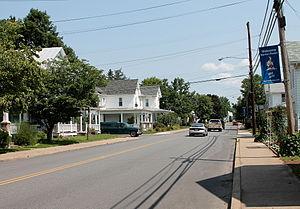 Benton, Columbia County, Pennsylvania - Main Street (Pennsylvania Routes 239/487) in Benton, looking north