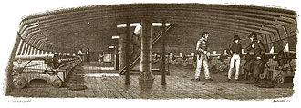 French frigate Méduse (1810) - Gun deck of Méduse