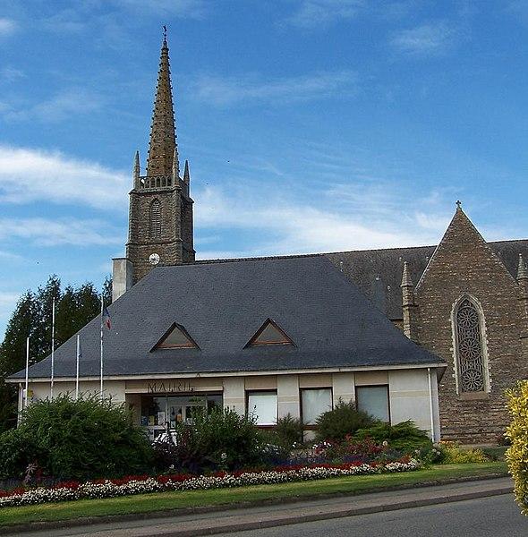 Mairie et église de Sainte-Marie, en Ille-et-Vilaine