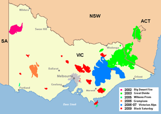 Country Fire Authority - Major bushfires in Victoria in the 2000s