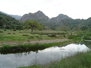 Wilderness park in Santa Monica Mountains of southern California