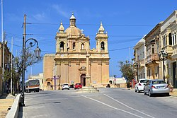 The parish church and square of Żebbuġ