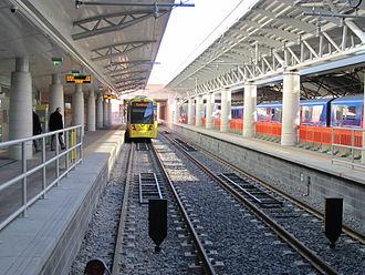 Manchester Airport station - Metrolink platforms