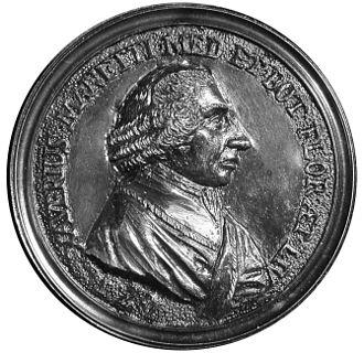 Saverio Manetti - Profile of Manetti in a 1777 medal by Giovanni Zanobio Weber