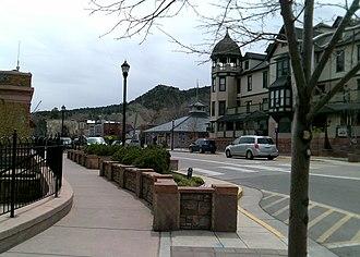 Manitou Springs, Colorado - Image: Manitou Avenue Barker House