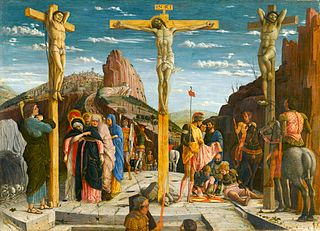 central part of the predella of San Zeno altar piece by Andrea Mantegna