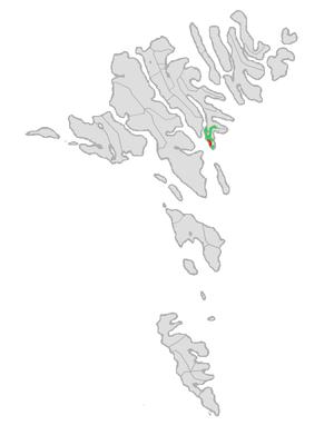 Nes, Eysturoy - Image: Map position nes kommuna 2005