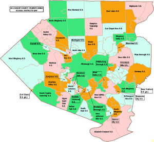 Pittsburgh Public Schools - Map of Allegheny County, Pennsylvania Public School Districts