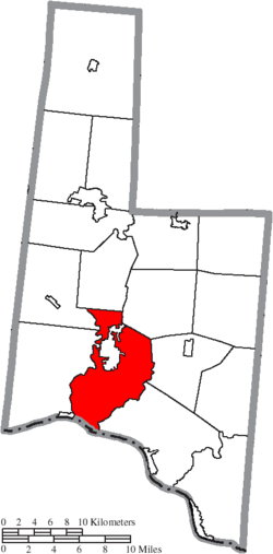 Location of Pleasant Township in Brown County