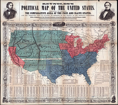 Map of free and slave states c. 1856 Map of Free and Slave States.jpg