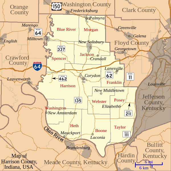 File:Map of Harrison County, Indiana.svg