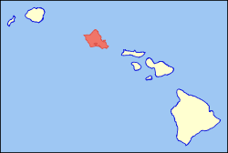 Map of Hawaii highlighting Oahu.svg