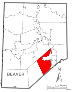 Map of Hopewell Township, Beaver County, Pennsylvania Highlighted.png