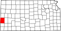 Map of Kansas highlighting Hamilton County.svg