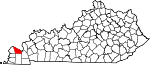 State map highlighting McCracken County